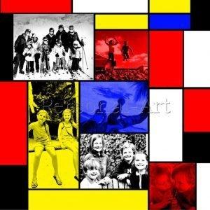 Mondrian Foto Collage