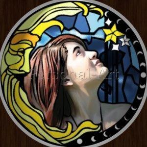 Glasmalerei Stil