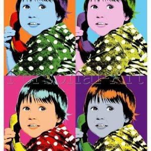 Warhol Stil Pop Art Porträt